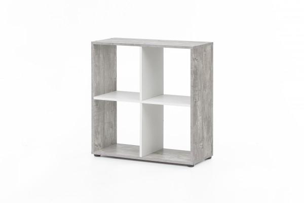 """Regal / Raumteiler """"Amadeus"""", Beton/weiß, 70 x 72,5 x 29 cm, 4 Fächer, Wohnzimmer, Regal"""