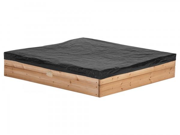"""Sandkasten """"Sila"""" in braun aus Hemloch-Holz 115x115x22cm mit Staurraum"""