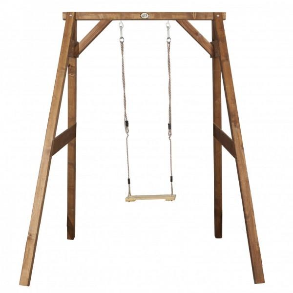 "Schaukel ""Mao"" Hemlock Holz 160x181x207cm Einzelschaukel Holzschaukel Gartenschaukel Kinderschaukel"