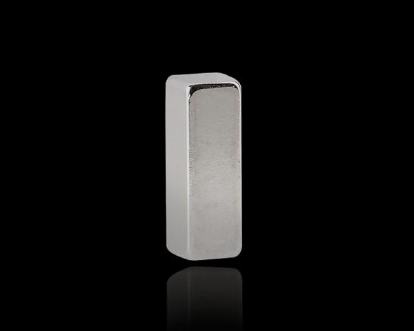 """pop.up 3er Set Magnet """"Mary II"""" Metallic 6x18x6mm eckig stark Supermagnet"""