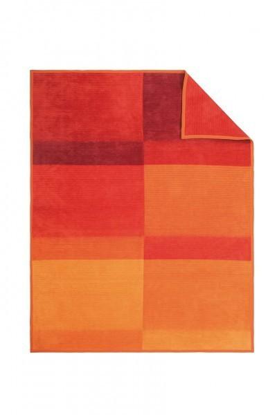 Jacquard Decke Sorrento orange