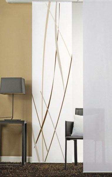 Emotion Textiles Flächenvorhang Schiebevorhang Linien BeigeBraun incl. Montagesatz