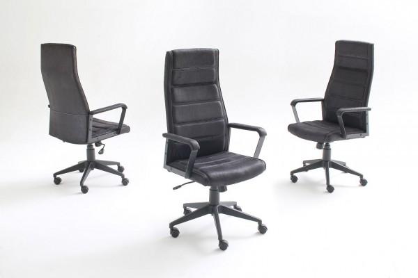 "Drehstuhl  ""Tiff"" schwarz, 57x95x61 cm, Sitzhöhe 47-57cm"