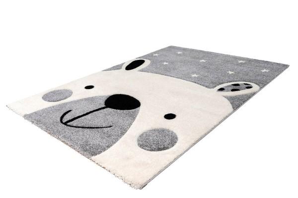 """Kinderteppich """"Milli"""" silber 80x150cm 120x170cm Teppich Kurzflorteppich Spielteppich"""