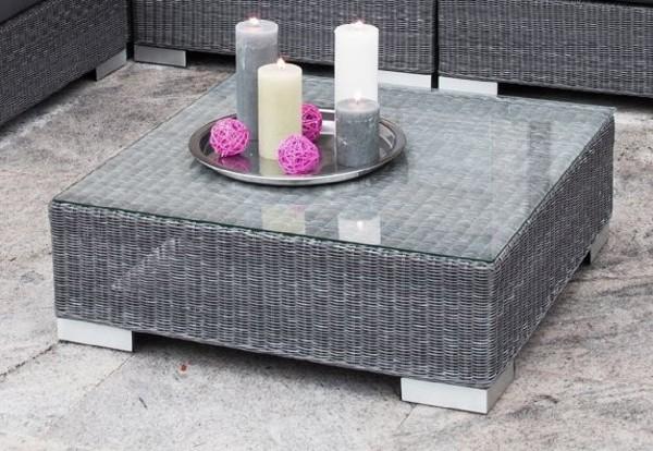 "Lounge Tisch ""Maryland"" Aluminiumgestell grau,Tisch, Beistelltisch Garten"