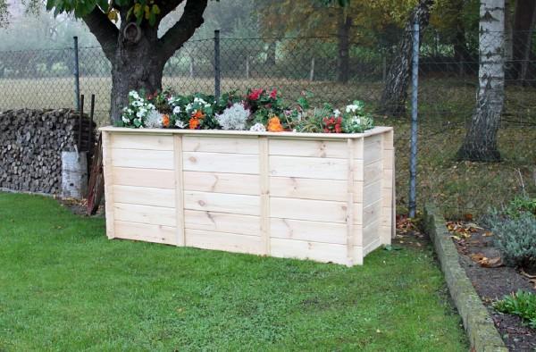 """Hochbeet """"Anni"""", Kiefer, natur, 160 x 80 x 85 cm, Gartenhochbeet, Blumenhochbeet, Garten"""