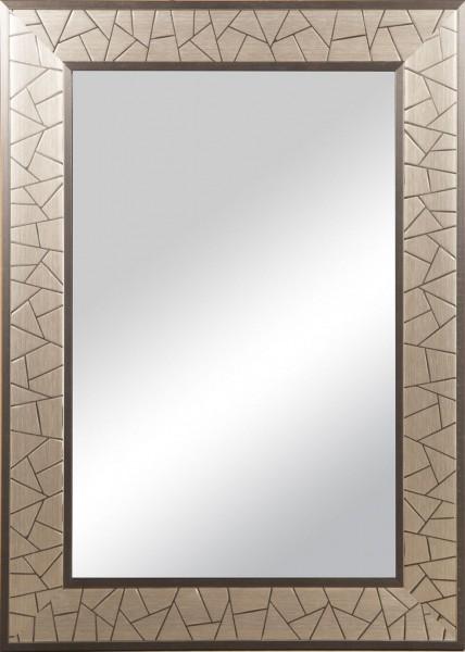 """Spiegelprofi 60125702 Rahmenspiegel ELISA Rahmenspiegel """"Ina"""", silber gebürstet, mit Rahmen, ca. 50 x 70cm Wandspiegel Spiegel"""