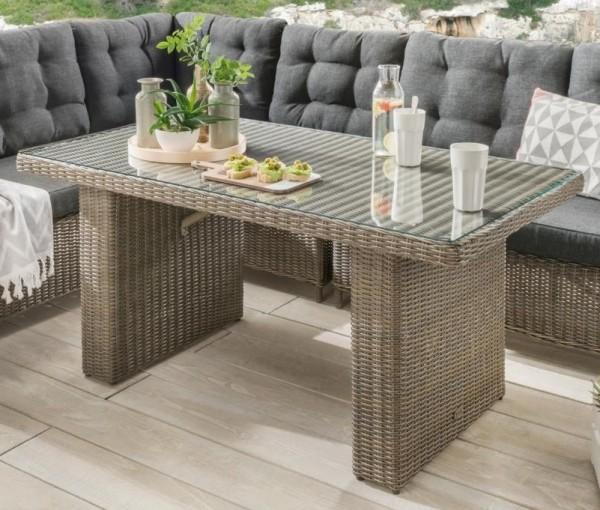 """Tisch """"Auckland"""", vintage grau, 145 x 80 x 67 cm, Loungetisch, Gartentisch, Balkontisch, Garten"""