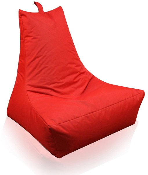 Mesana XXL Lounge-Sessel, 100x90x80 cm, Sitzsack Outdoor & Indoor, wasserabweisend, rot