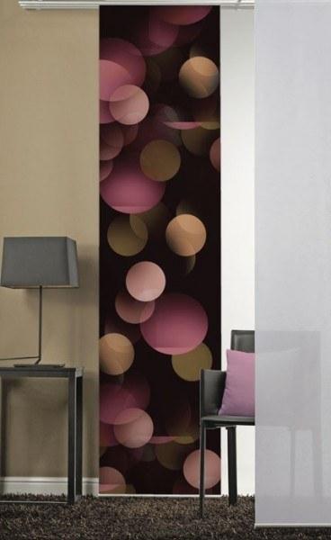 Emotion Textiles 1er Flächenvorhang Schiebevorhang Kreise Dunkel incl. Montagesatz