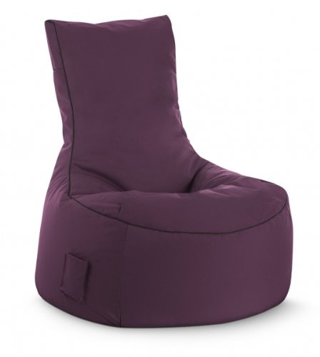 Sitzsack Magma Scuba Swing 300l, Sitzsack Outdoor & Indoor wasserabweisend aubergine