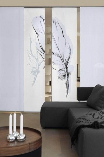 2-teiliger Flächen-Schiebevorhang Emotion Textiles Konturfeder taupe 120 x 260 cm