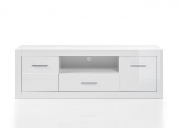 Lowboard Sensitive Double Mediaboard Hochglanz Weiß 180x61x45 Cm