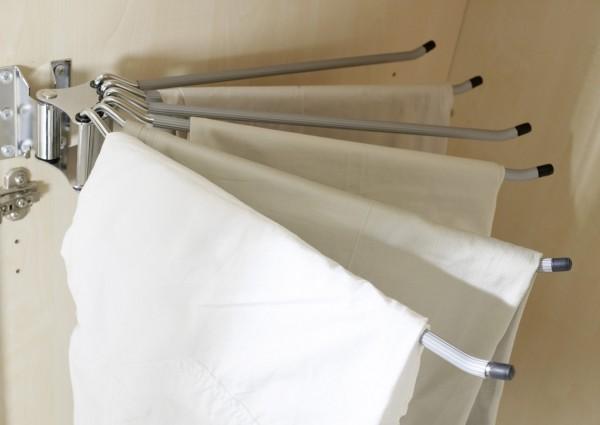 """Hosenhalter """"Plus"""" grau, für Schränke ab 2m Höhe, Rastermaß 110cm, 8x43x43cm"""