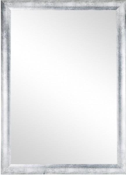 """Beauty.Scouts Wandspiegel """"Ziria"""", Rahmenspiegel Klarglas MDF altsilber inkl. Aufhänger 78x108cm"""