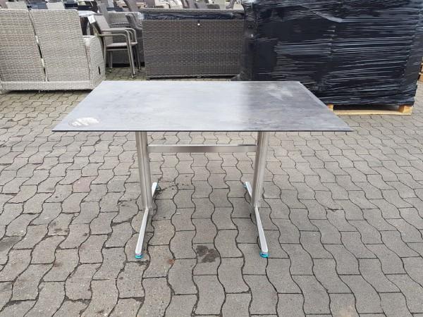 """Tisch """"Marbella"""", Edelstahl/Beton dunkel, 120 x 80 x 75 cm, Gartentisch, Balkontisch, Garten"""