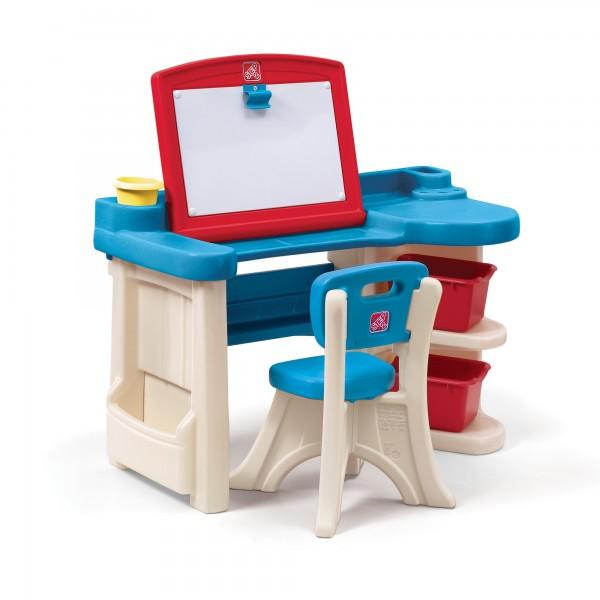 "Tafel-/Schreibtisch ""Rudi"" aus Kunststoff in bunt 67,3x100,3x114,3cm"