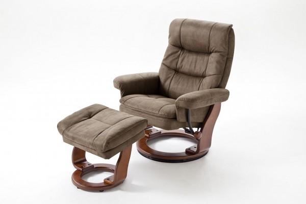 """Relax Sessel  Komfort XL """"Randers"""" - Wohnzimmersessel mit Hocker Mikrofaser verschiedene Farben 100"""