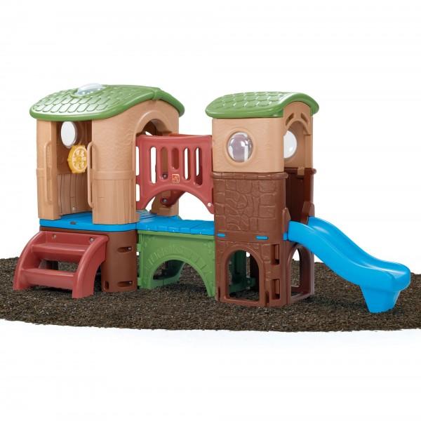 """Kletterhaus """"Vince"""" aus Kunststoff braun 348x232,4x177,8cm Spielecenter"""