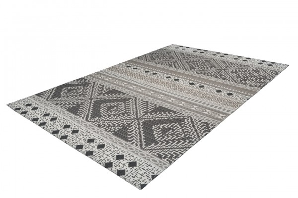 """Teppich """"Julia"""" schwarz weiß modernes Design Ethnolook pflegeleicht Outdoorteppich Indoorteppich"""