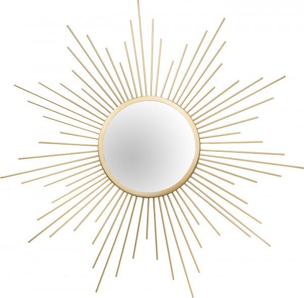 """Spiegelprofi 61016606 Metallspiegel SUN Metallspiegel """"Solaria"""" , golden, ca.Ø 60cm Wandspiegel Spiegel"""
