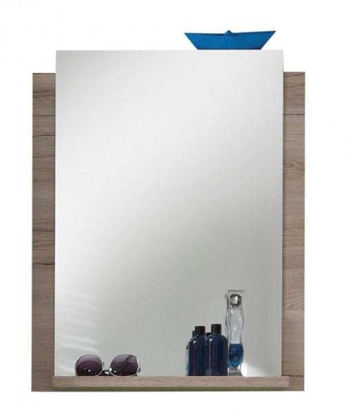 """Wandspiegel """"Horsholm"""", Badezimmer Spiegel mit Ablage San Remo-Eiche hell NB 60x75x15cm"""