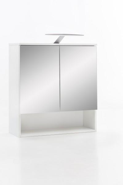 """Spiegelschrank """"Pauline"""", weiß, 1 offenes Fach, 2 Türen, 65 x 79 x 24 cm"""