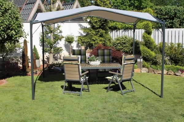 "Pavillion ""Modern Base"" 350 x 350 x 262 cm Parytzelt Sonnendach Dach grau"
