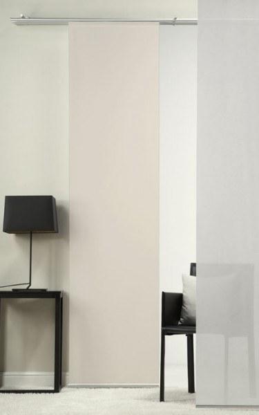 Emotion Textiles Flächenvorhang 1er Schiebevorhang Uni Sepia inkl. Montagesatz-Copy