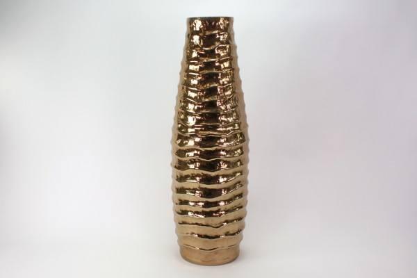 """Vase """"Rules IV"""" Aluminium rose gold, H 88 cm"""