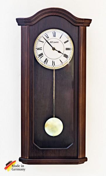 """Wanduhr mit Pendel """"Dorset"""", Uhr, Wanduhr, Pendeluhr,Buche, Küche, Wohnzimmer, Diele/Flur, 58x28 cm,"""