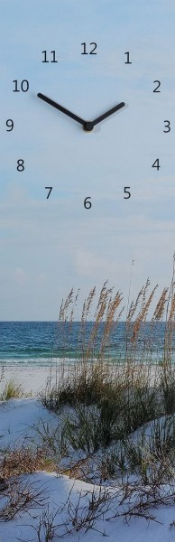 "Wanduhr Quartzuhr ""Strand"", MDF Uhr blau Strand Meer 60x20x5 cm"