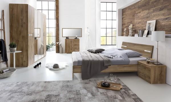 """Schlafzimmer Programm """"Flink Grande"""", 5-tlg. Möbel-Set, Plankeiche Nachbildung"""