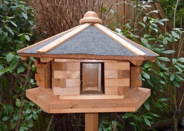 """Vogelhaus """"Kethleen"""" Holzkasten imprägniert honigbraun38x59x59cm Vogelhäuschen"""