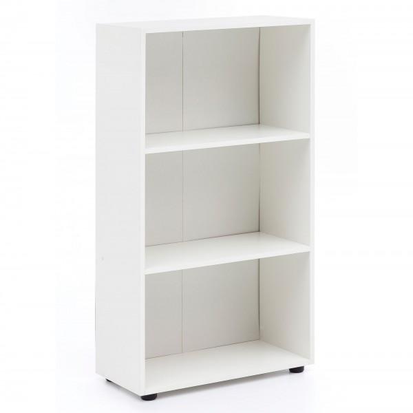 """Bücherregal """"Mali II"""" weiß elegant modern schlicht 60x111x29cm Standregal Regal"""