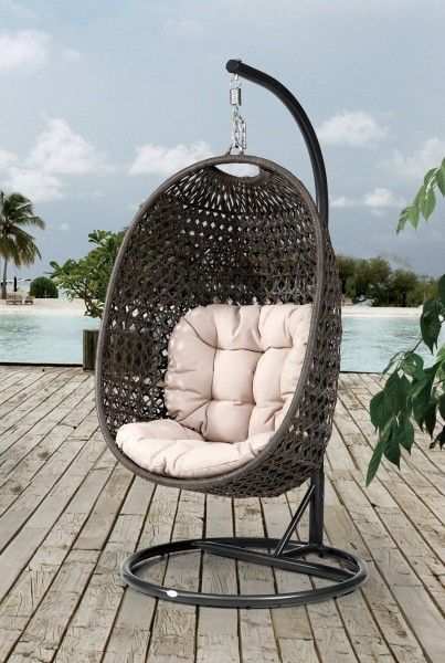 h ngesessel dreams gestell xxl rattan anthrazit. Black Bedroom Furniture Sets. Home Design Ideas
