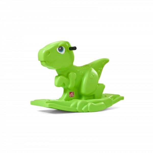 """Schaukelspielzeug """"Copper"""" in grün aus Kunststoff 33x57x69cm Kinderschaukeltier"""
