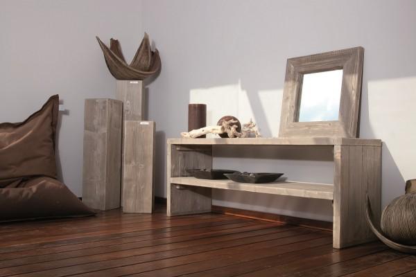 """Designer Regal """"Viktoria"""", Holz, 160 x 47 x 60 cm, Wohnzimmerregal, Garderobenregal, Sitzbank"""