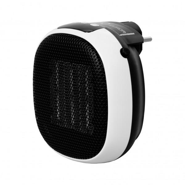 """Steckdosenheizung """"Olias"""" Heizlüfter schwarz-weiß 13x7x14cm Elektrische Heizung Heat plug-in"""