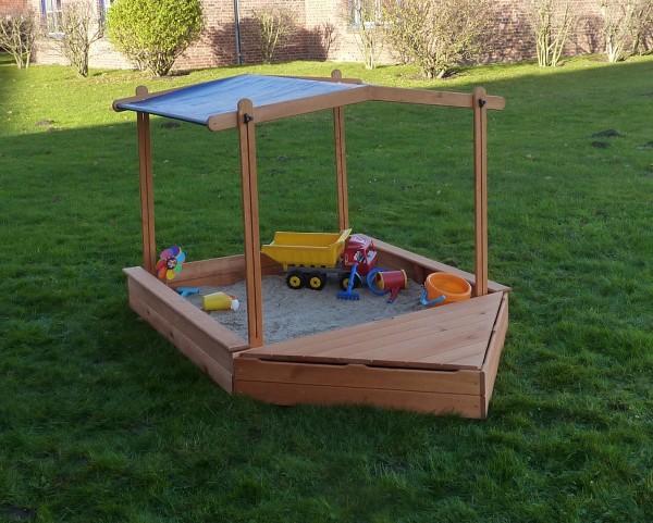 """Sandkasten """"Sandy II"""", Kiefer, 140x260x132cm, Kindersandkasten, Garten, Spielzeug, Kinderspielzeug"""