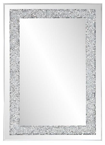 """Standspiegel """"Sira"""" silber glitzerend mit Strasssteinen 40 x 50 cm Rahmenspiegel Spiegel"""