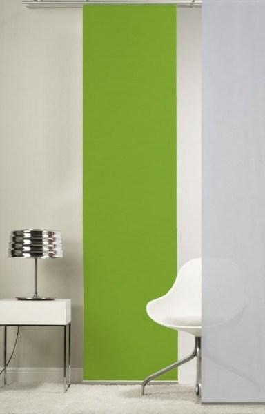 Emotion Textiles 1er Flächenvorhang Schiebevorhang Apfelgrün incl. Montagesatz