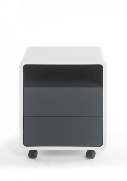 """Rollcontainer """"Torrero"""", weiß, anthrazit, 47x55x38 cm"""