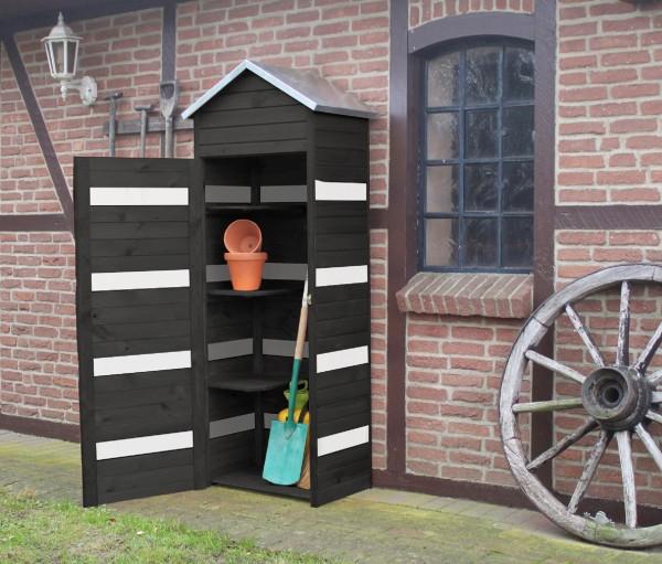 """Gerätehaus """"Dennis"""", anthrazit/weiß, 196 x 49,5 x 74 cm, Gartenhaus, Garten, Gartenutensilien"""