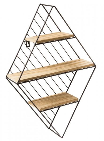 "Spiegelprofi 51153525 Metallregal LIPPE , ""Gina"" - schwarz/Holz, 55x37x11 cm, Metallregal Regal"