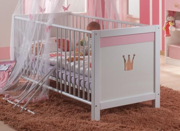 Babybett Baby Bett 70 x 140 Babyzimmer Kinderzimmer Kinderbett mit Bettseiten