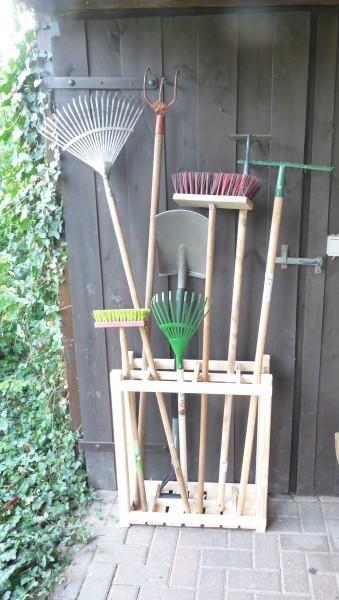 """Geräteständer """"Blossom"""" Kiefernholz natur 60,2x21,8x70cm Outdoor Ständer Geräte Garten"""