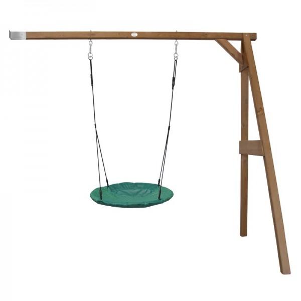 """Nest-Anbauschaukel """"Rake"""" Nestschaukel Hemlock Holz braun 160x244x207cm Schaukel"""