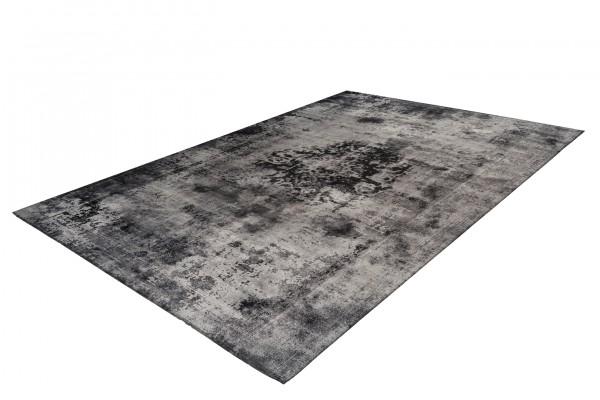 """Teppich """"Jack"""" grau 100% Polyester Antik-Optik Vintage-Look pflegeleicht robust"""