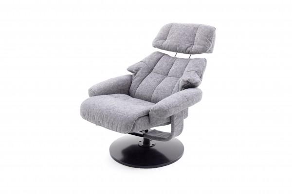 "Relax Sessel ""Amani I"" grau/graphite Polyester Metall 130kg belastbar 82x102x85cm Wohnzimmersessel"